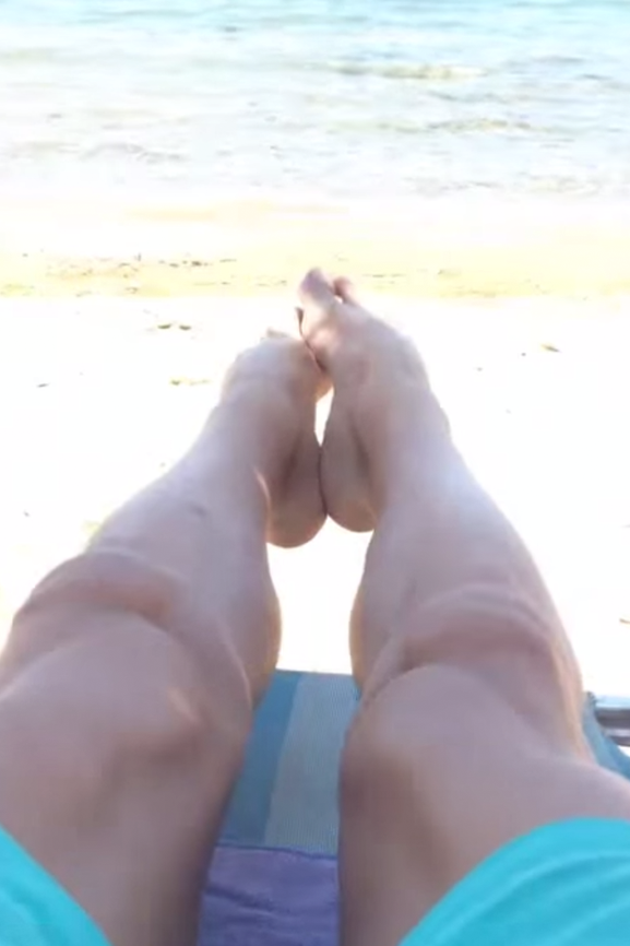 Trainen zonder gewichten: op het strand