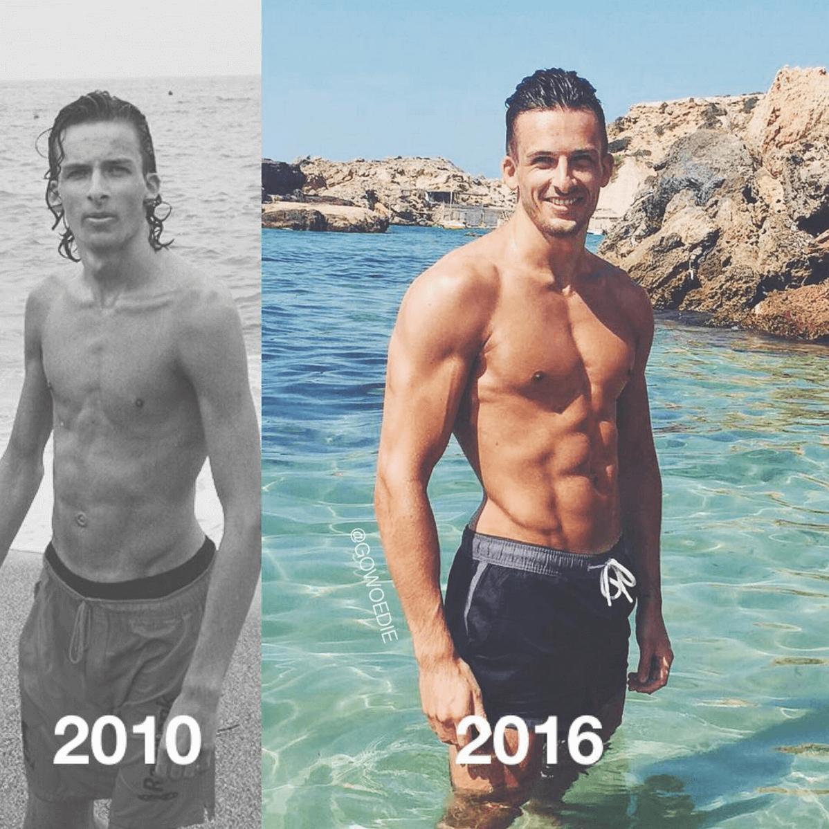 Hoe mijn fitness transformatie foto de wereld over ging